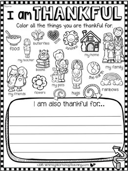 Nifty image inside i am thankful for printable