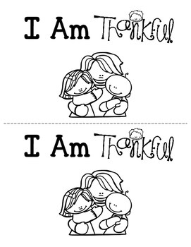 picture about I Am Thankful for Printable identify I Am Grateful - Relatives - Printable Booklet