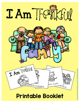 I Am Thankful - Family - Printable Booklet