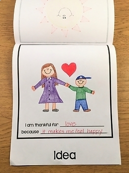 I Am Thankful For - A Noun Flip Book