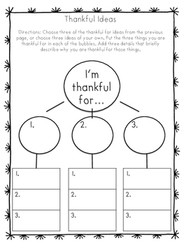 I Am Thankful For... A writing project