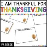 FREE I Am Thankful For Thanksgiving Activity