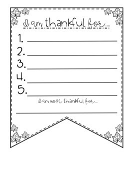 I Am Thankful For... Pennant Banner {Thanksgiving}