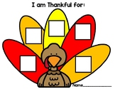 I Am Thankful For: Special Ed Personalized Activity for Students