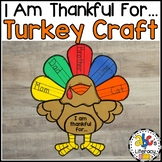 I Am Thankful For... Turkey Craft and Writing Prompt