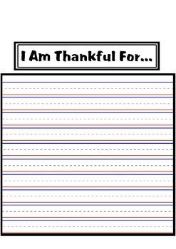 I Am Thankful For.. Turkey Craftivity and Writing