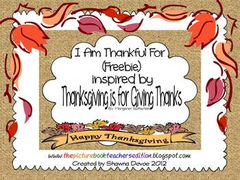 I Am Thankful For Writing inspired by Thanksgiving is for Giving Thanks