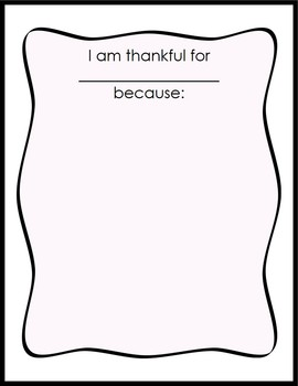 Thanksgiving Writing Keepsake Activity - I Am Thankful For You!