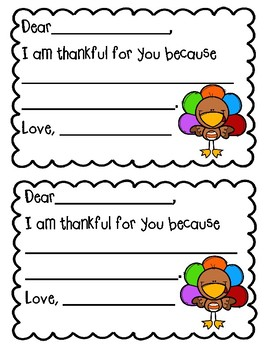 I Am Thankful For You... Printable Cards