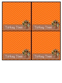 I Am Thankful For You! Cards & Turkey Toe Toppers