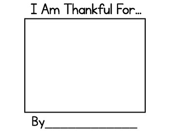 I Am Thankful For...{easy prep Thanksgiving Book!}