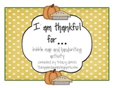I Am Thankful For...Writing Activity Freebie