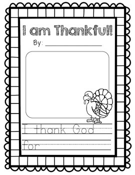 I Am Thankful / I Thank God For Pattern Sentence