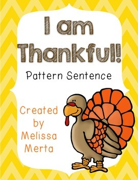 I Am Thankful / I Thank God For Pattern Sentence