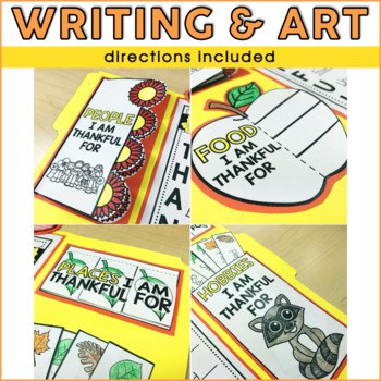 I Am Thankful For Lapbook | Thanksgiving Activities