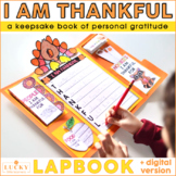 I Am Thankful For Lapbook | Thanksgiving Activities | Digital and Printable