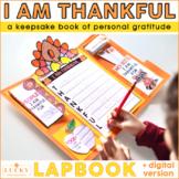 I Am Thankful For Lapbook | Thanksgiving Activities | Digi