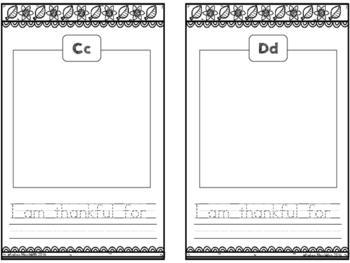 I Am Thankful - Thanksgiving Alphabet Book Freebie