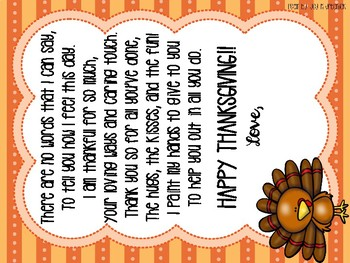 """I Am Thankful"" With Poem and Craft"