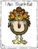 I Am Thankful ~ Thanksgiving Writing Activity