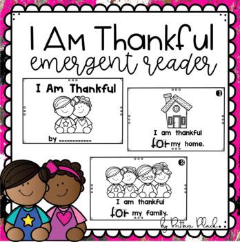 I Am Thankful~ emergent reader