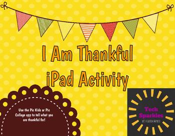 I Am Thankful iPad Activity
