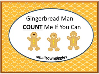 Gingerbread Math Counting Craftivity Christmas Cut and Paste Worksheets