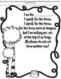 I Am The Lorax Fill-It-In Poem