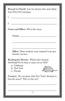 I Am Walt Disney (Grace Norwich) Book Study / Comprehension  (25 pages)