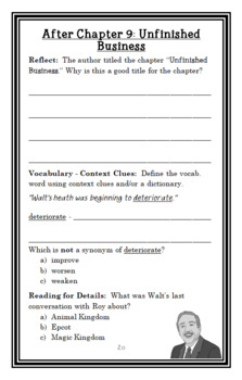 I Am Walt Disney (Grace Norwich) Book Study / Comprehension  (25 pages)