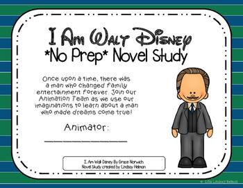 I Am Walt Disney NO-PREP Novel Study