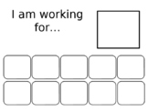I Am Working For... behavior chart (editable)