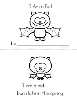 I Am a Bat Life Cycle Emergent Reader Mini Book (Science & Literacy)