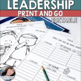 Leadership Activity Editable Worksheets
