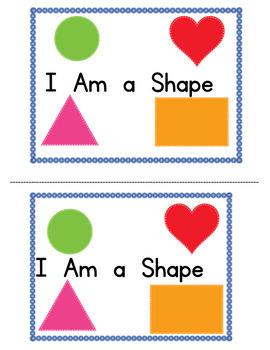 I Am a Shape Math and Level A Reader (Color and BW)