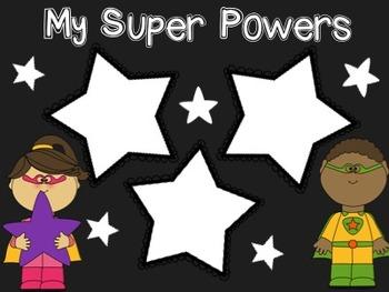 I Am a Superhero Writing Activity