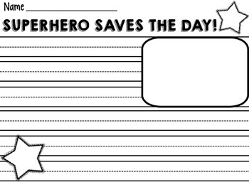 I Am a Superhero Writing Activity
