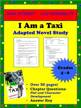 I Am a Taxi Novel Study (High Interest, Low Readability)