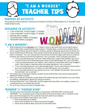 Wonder FREE Novel Study Activity