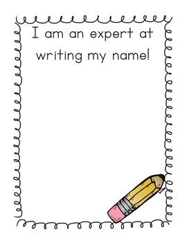 I Am an Expert at Writing My Name! FREEBIE