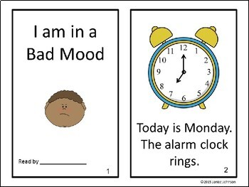 I Am in a Bad Mood School Themed Reader & Sorting Page {Young Readers, ESL, EFL}