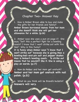 I, Amber Brown- Novel Study