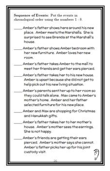 I, Amber Brown (Paula Danziger) Novel Study / Reading Comprehension