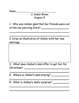 I, Amber Brown comprehension questions