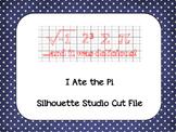 Pi Day 'I Ate the Pi' {Silhouette Cut File}
