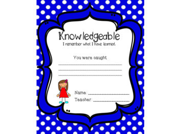 I.B. Caught Using Learner Profile Attributes Cards Awards Recognition