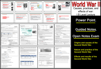 I B Level World War II OVER VIEW Power Point/Guided Notes/Exam