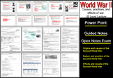 I.B Level World War II OVER VIEW Power Point/Guided Notes/Exam