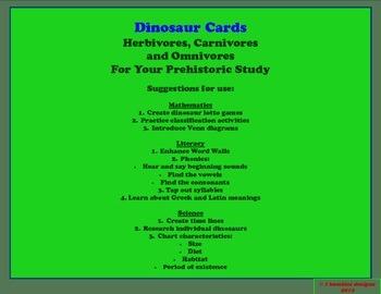 I BAMBINI DINOSAUR CARDS