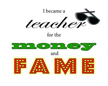 PRINTABLE POSTER I Became a Teacher